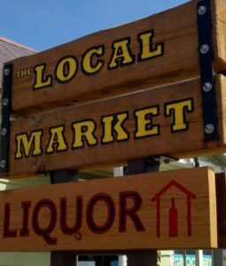 Local Market Sign