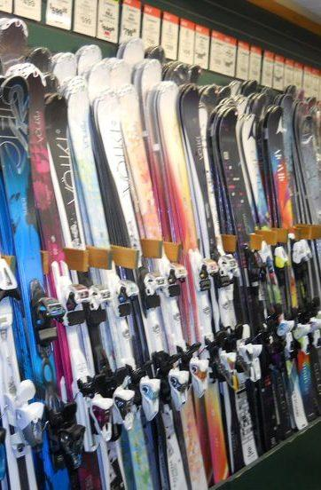 Wall of Skis
